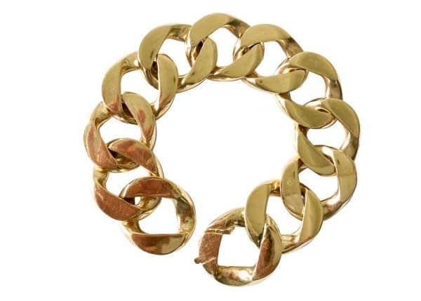 vintage cartier curb link bracelet