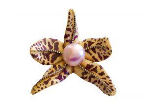 Sylvia Furmanovich Orchid pin