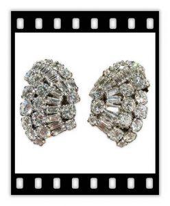 suzanne belperron 20 carat diamond earrings, ca. 1940s