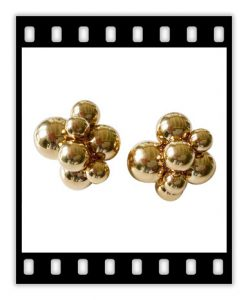 marina b 18k gold atomo earrings