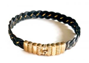 elephant hair 14k gold bracelet