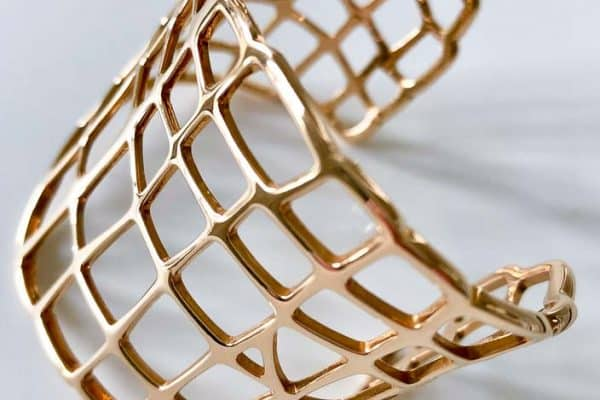 hermes 18k abstract weave cuff