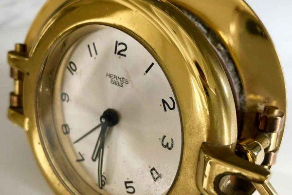 hermes desk clock
