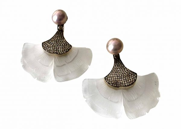 silvia furmanovich ginko leaf earrings