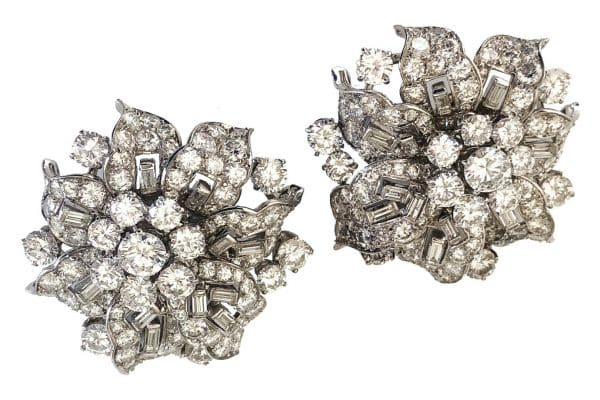 vintage bulgari diamond ear clips