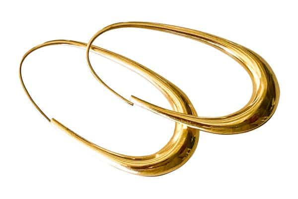 michael good oblong hoop earrings