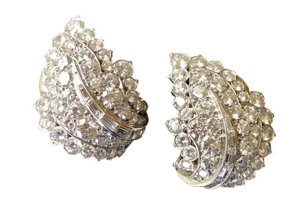 van cleef diamond leaf earrings