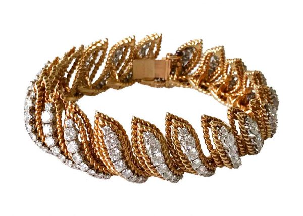 van cleef and arpels gold and diamond bracelet