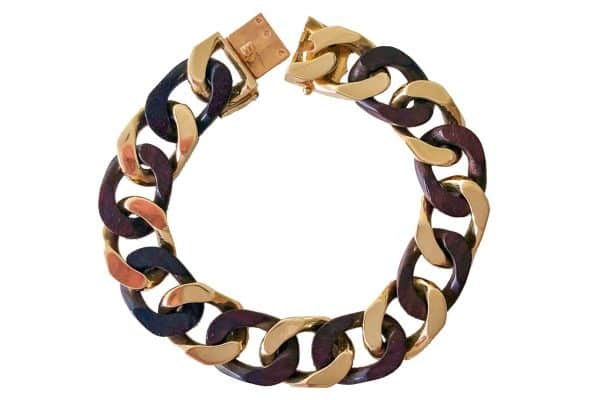 van cleef and arpels wood and gold bracelet