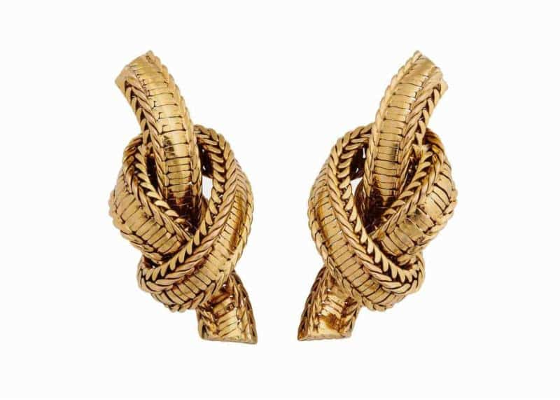pierre sterle rope twist earrings ca. 1950's