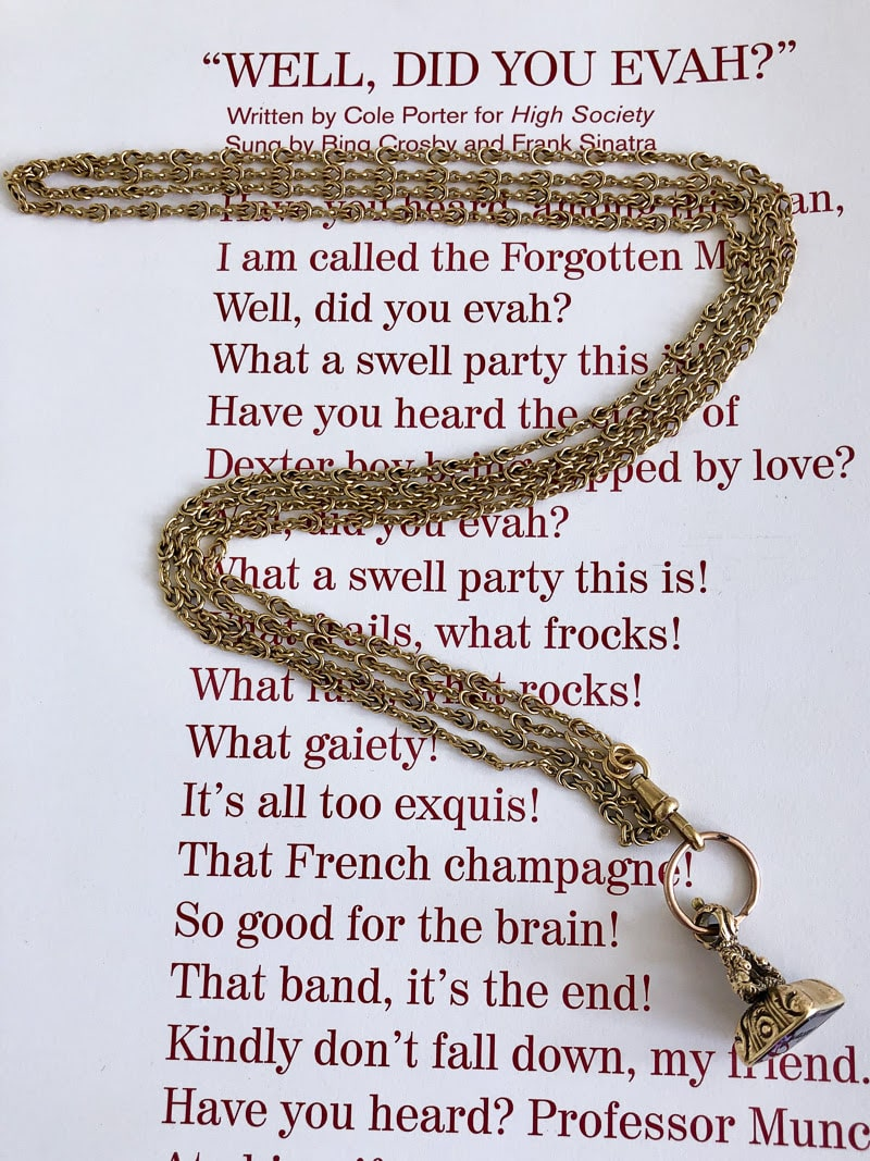 antique fob chain and intaglio