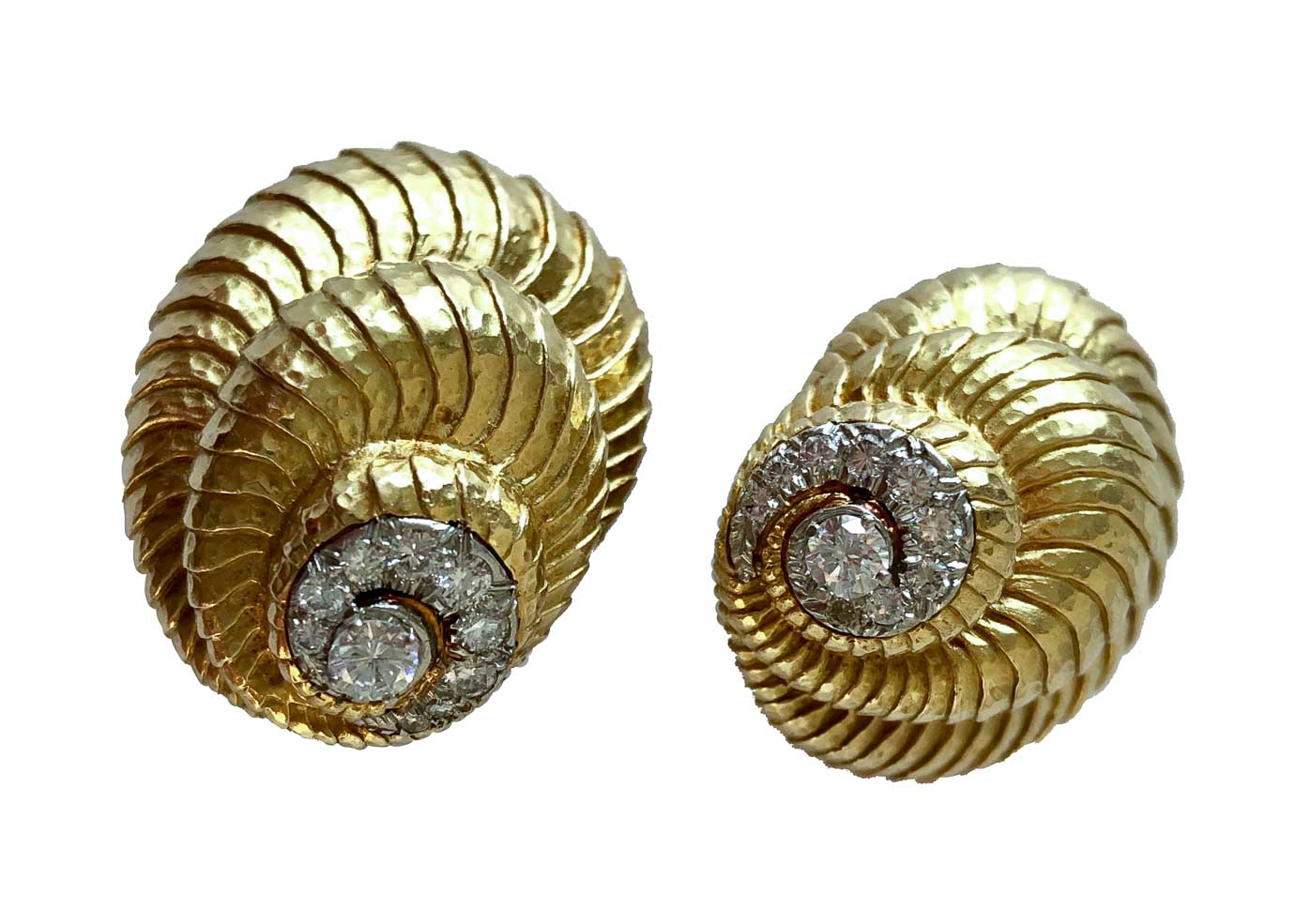 david webb shell earrings