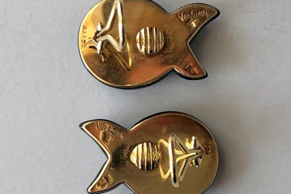 verdura onyx peridot earrings