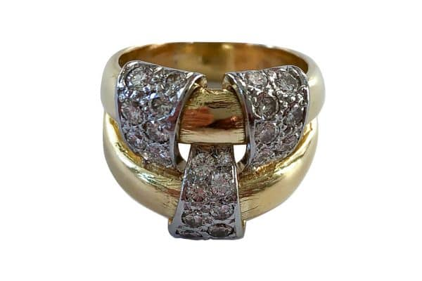 schlumberger gold diamond ring