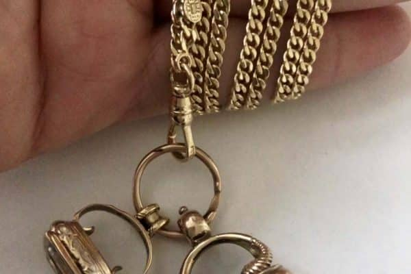 fob necklace with 14k chain