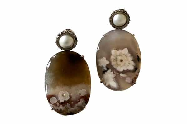 silvia furmanovich turkish agate earrings