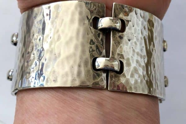 hermès hammered sterling cuff