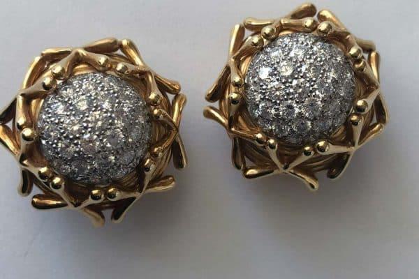 schlumberger acorn earrings