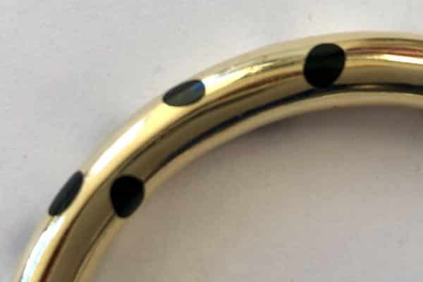 tiffany black jade inlay cuff