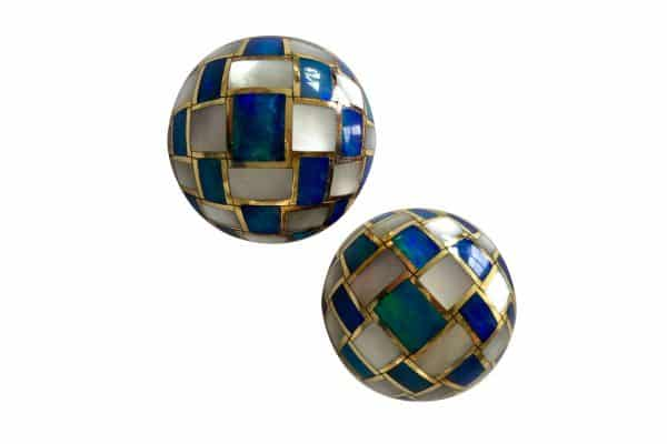 tiffany opal mosaic earrings