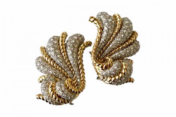 verdura fan earrings