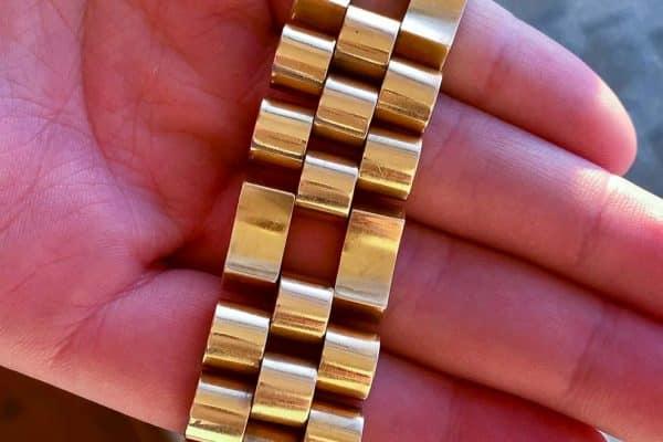 vintage 18k forties tank bracelet