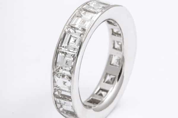 graff asscher cut diamond eternity band