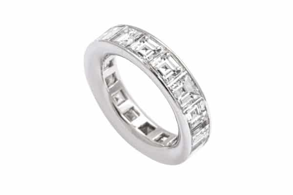 graff asscher cut diamond eternity band