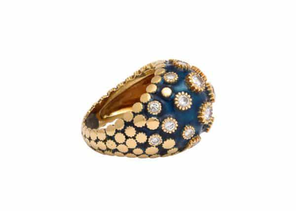 vancleefand arpels blue enamel ring