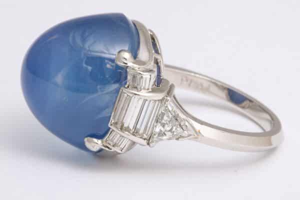 Art deco star sapphire ring