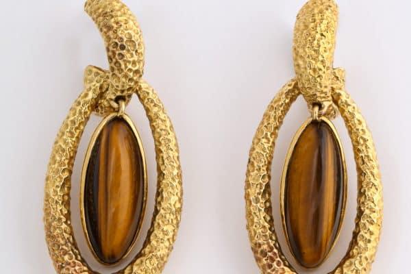 VanCleefand Arpels tigers eye earrings
