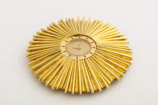 verdura starburst clock pendant
