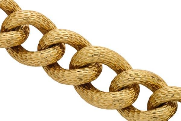 vintage van cleef textured gold bracelet