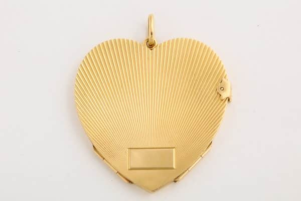 vintage forties large heart pendant