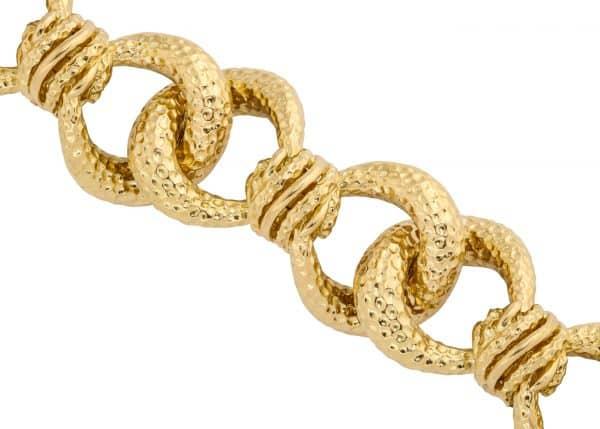 vintage tiffany textured link bracelet