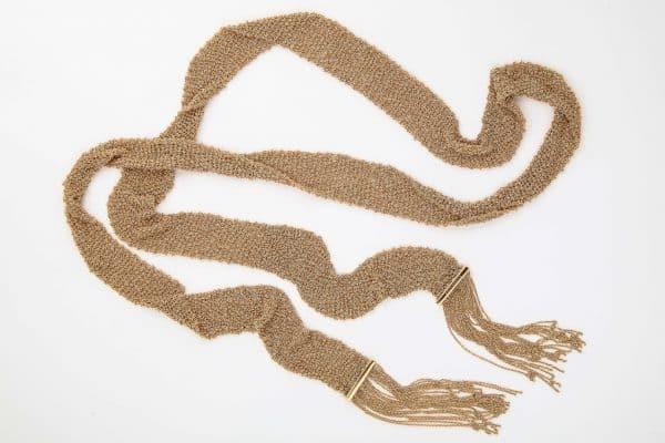 boucheron sparkly mesh scarf necklace